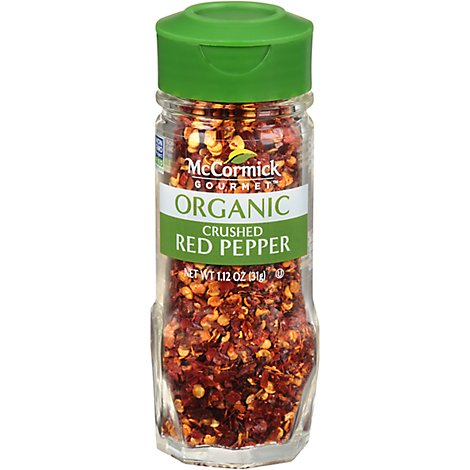 McCormick Gourmet Organic Red Pepper Crushed - 1.12 Oz