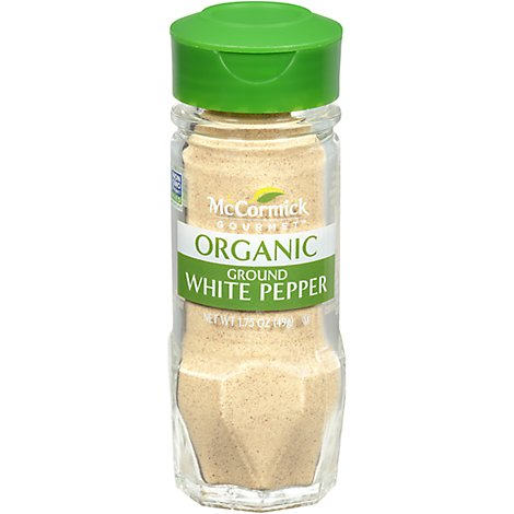 McCormick Gourmet Organic White Pepper Ground - 1.75 Oz