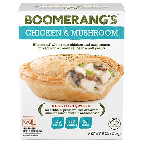 Boomerangs Entree Natural Chicken Mushroom - 6 Oz