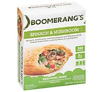 Boomerangs Entree Natural Spnch Mushroom - 6 Oz
