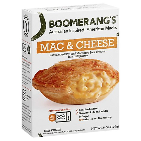 Boomerangs Entree Natural Macaroni Chs - 6 Oz