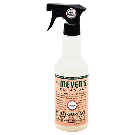 Mrs. Meyers Clean Day Multi-Surface Everyday Cleaner Geranium Scent 16 ounce bottle