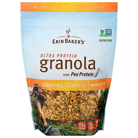 Erin Bakers Granola Ultra Protein Power Crunch Peanut Butter & Honey - 12 Oz