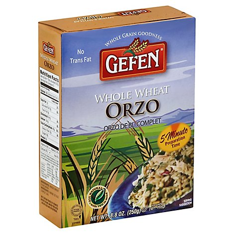 Gefen Orzo  Whole Wheat - 8.8 Oz