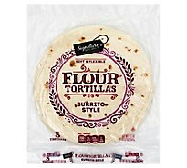 Signature SELECT Tortillas Flour Burrito Style 8 Count - 19.2 Oz