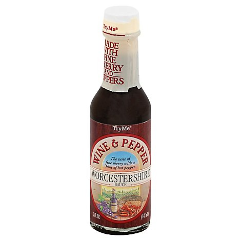 TryMe Sauce Worcestershire Wine & Pepper - 5 Fl. Oz.