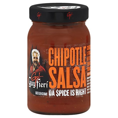 Guy Fieri Salsa Chipotle Da Spice Is Right Jar - 16 Oz