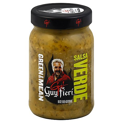 Guy Fieri Salsa Verde Green & Mean Mild Jar - 16 Oz