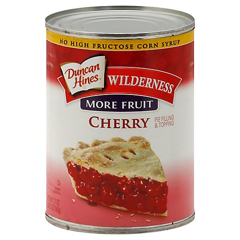 Duncan Hines Wilderness Pie Filling & Topping More Fruit Cherry - 21 Oz