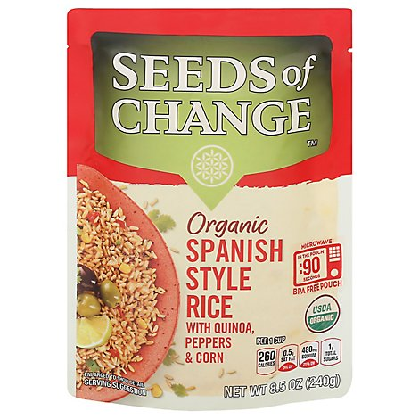 SEEDS OF CHANGE Organic Rice Spanish Style - 8.5 Oz