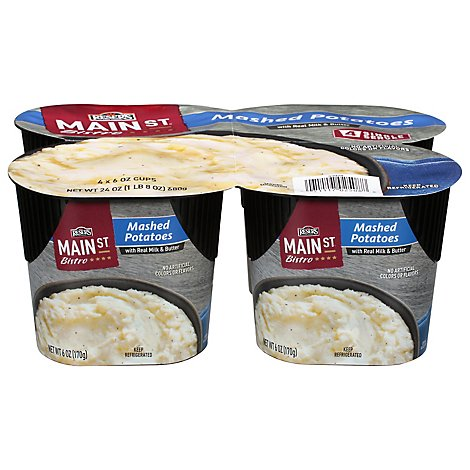 Resers Main St Bistro Mashed Potatoes 4 Count - 24 Oz