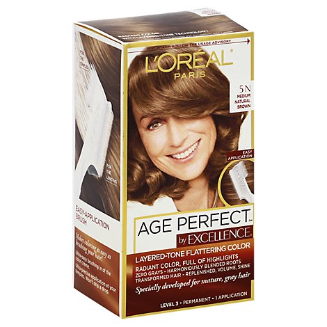 Loreal Excellence Age Perfect 5n Medium Natural Brown - Each