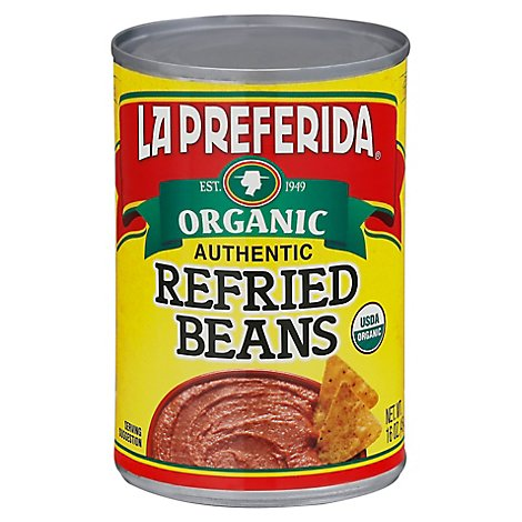 La Preferida Organic Beans Refried Authentic Can - 15 Oz