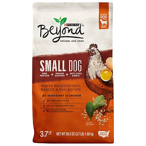 Beyond Dog Food Small Dog White Meat Chicken Barley & Egg Recipe Bag - 3.7 Lb