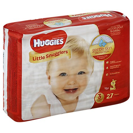 Huggies Little Snugglers Diapers Size 3 Disney Baby - 27 Count