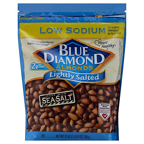Blue Diamond Almonds Lightly Salted Low Sodium - 25 Oz