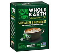 Whole Earth Nature Sweet Stevia & Monk Fruit Blend - 40 Count