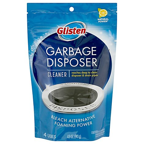 Glisten Disposer Care Foaming Cleaner Disposer & Drain Plus Bleach Alternative Lemon - 4 Count