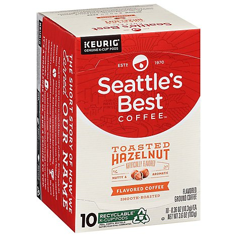 Seattles Best Coffee Coffee K-Cups Pods Toasted Hazelnut - 10 Count