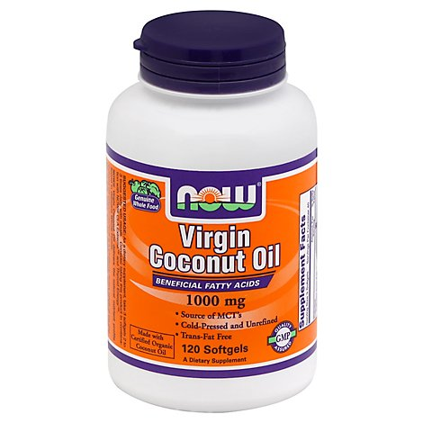 Coconut Oil 1000mg   120 Sgels - 120 Count