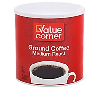 Value Corner Coffee Ground Medium Roast - 32 Oz