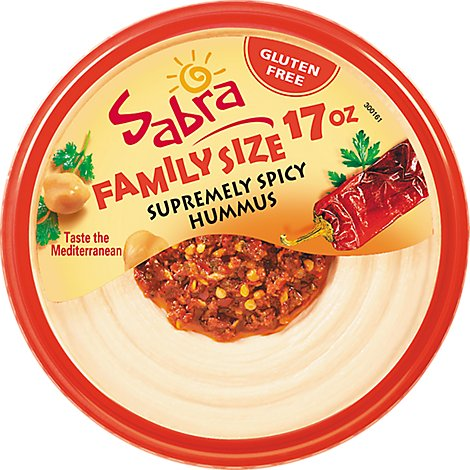 Sabra Supremely Spicy Hummus Family Size - 17 Oz