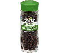 McCormick Gourmet Organic Peppercorns Black Whole - 1.87  Oz