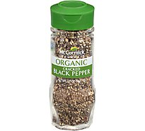 McCormick Gourmet Organic Black Pepper Cracked - 1.37 Oz