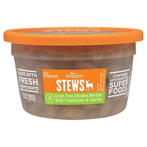 Freshpet Dog Food Stews Grain Free Chicken Recipe With Cranberries & Carrots Tub - 10.25 Oz