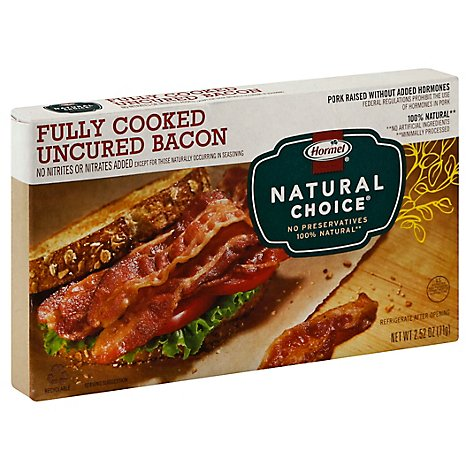 Hormel Natural Choice Bacon Fully Cooked - 2.52 Oz