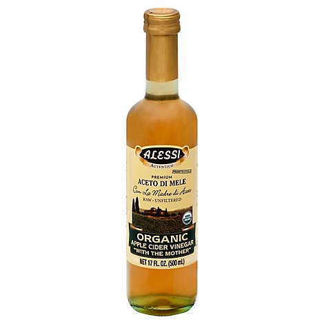 ALESSI Vinegar Organic Apple Cider Premium - 17 Fl. Oz.