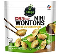 Bibigo Wontons Korean Style Chicken & Vegetable Dumplings Mini - 24 Oz