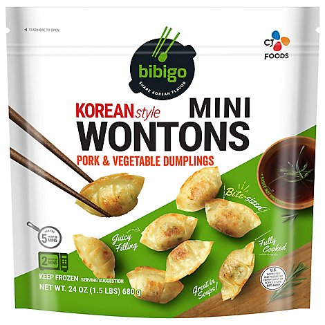 Bibigo Pork & Vegetable Mini Wontons - 24 Oz