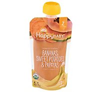 Happy Baby Organics Baby Food Organic Bananas Sweet Potatoes & Papayas 2 (6+ Months) - 4 Oz