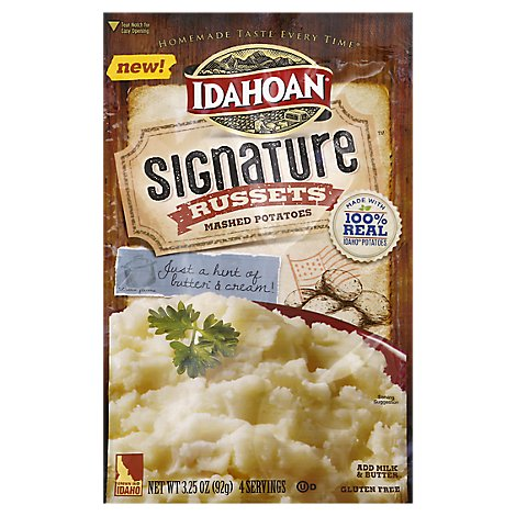 Idahoan Potatoes Mashed Signature Russets Pouch - 3.25 Oz