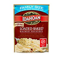 Idahoan Potatoes Mashed Loaded Baked Pouch - 8 Oz