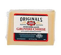 Dietz & Watson Originals Switzerland Gruyere Cheese Block 6 Oz
