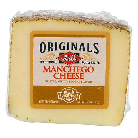 Dietz & Watson Originals Manchego Cheese Wedge 3.5 Oz