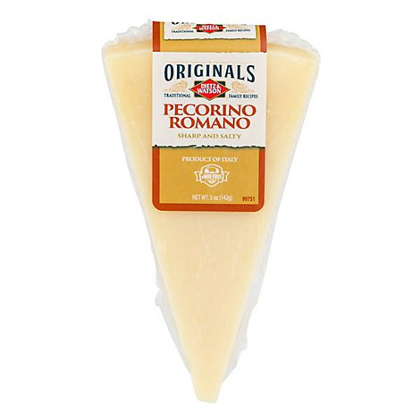 Dietz & Watson Originals Pecorino Romano Cheese Wedge 5 Oz