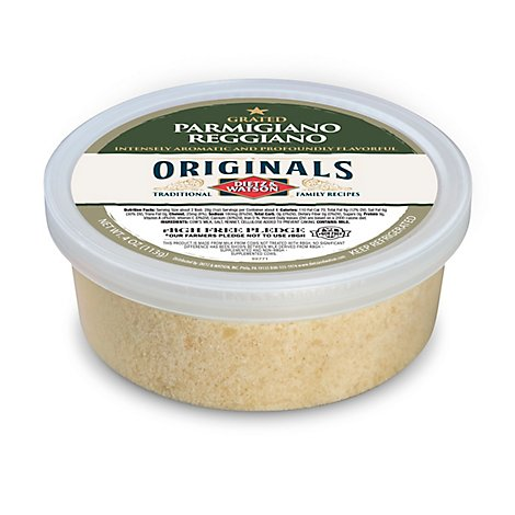 Dietz & Watson Originals Grated Parmigiano Reggiano Cheese Cup 4 Oz