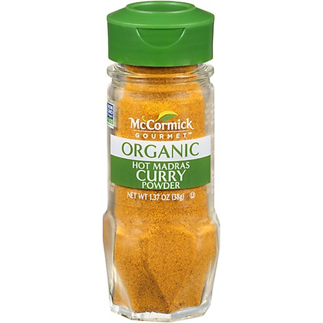 McCormick Gourmet Organic Curry Powder Hot Madras - 1.37 Oz