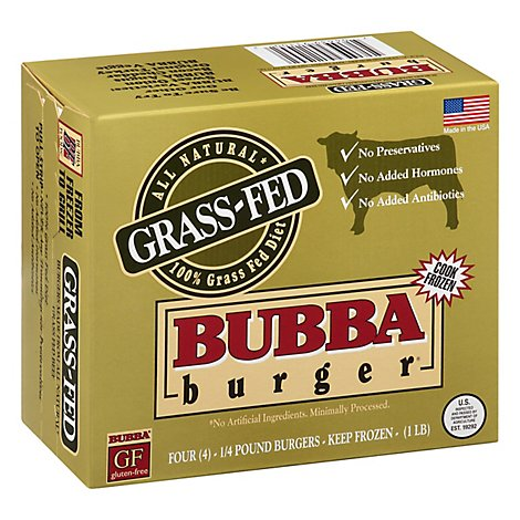 Bubba Burger Grass Fed - 1 Lb