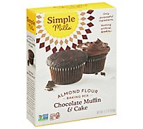 Simple Mills Almond Flour Mix Chocolate Muffin & Cake - 10.4 Oz