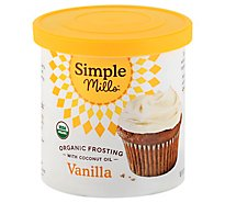 Simple Mills Organic Frosting Vanilla with Coconut Oil - 10 Oz