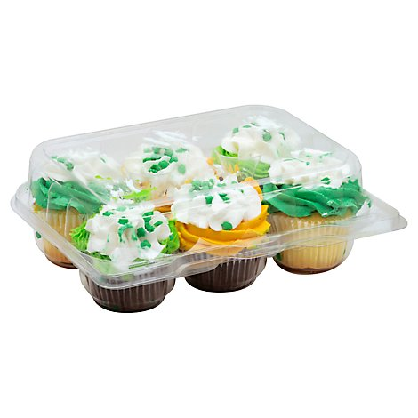 Bakery Cupcake Assorted With Whip 6 Count - Each