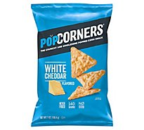 PopCorners Popped Corn Chips Crispy & Crunchy Salt Of The Earth Bag - 7 Oz
