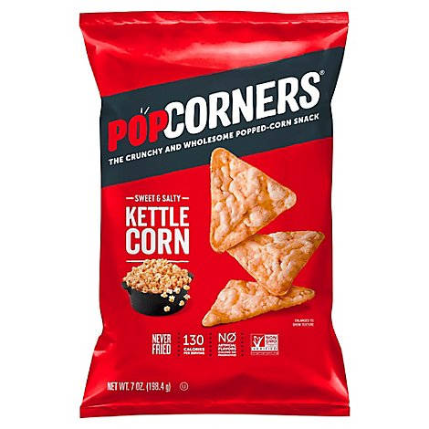 PopCorners Popped Corn Chips Crispy & Crunchy Carnival Kettle - 7 Oz