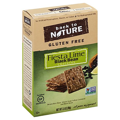 back to NATURE Crackers Black Bean Fiesta Lime Gluten Free - 3.5 Oz