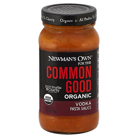 Newmans Own Common Good Pasta Sauce Organic Vodka - 23.5 Oz
