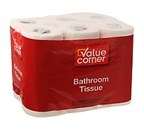 Value Corner Bathroom Tissue 2-Ply - 12 Count